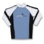 T-Shirt manches longues anti uv Bleu/Noir/Blanc