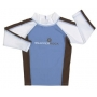 T-Shirt manches longues anti uv Bleu p‰le/Chocolat/Blanc