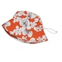 Bob anti uv enfant - Orange/Blanc/Fleuri