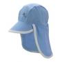 Casquette anti uv pour bébé - Bleu/Blanc