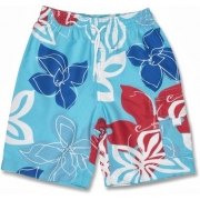 Boardshort anti uv enfant - Rouge Royal Tropical
