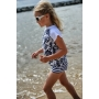 Kit de bain manches courtes anti uv enfant - Navy Brocade