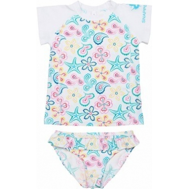 Kit de bain manches courtes anti uv enfant - Starfish/ Ruffle Bikini