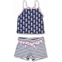 Set débardeur/short anti uv enfant - Navy/Seahorse