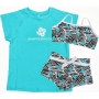Bikini deux pièces + T-shirt anti uv fille - Aqua Zebra