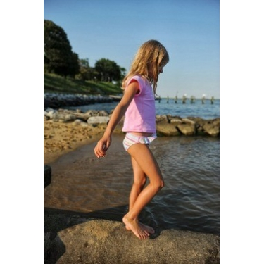 Bikini deux pièces + T-shirt anti uv fille - Candy Stripe