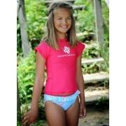 Bikini deux pièces + T-shirt anti uv fille - Ocean Raspberry Flowers