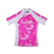 T-shirt anti uv enfant - Palm Pink