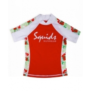 T-shirt anti uv enfant - Jungle Red