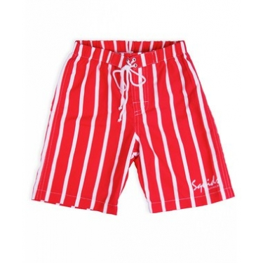 Short de bain anti uv enfant - Red Stripe