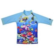 T-shirt de bain anti uv enfant - Poisson Turquoise