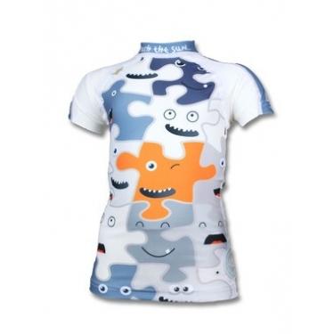 T-shirt anti uv manches courtes enfant - Puzzle