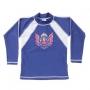 T-shirt de bain manches longues Garcon - Royal blue/White