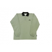 Polo manches longues anti uv adulte - Gris