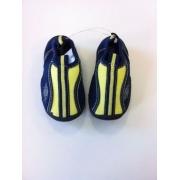 Chaussures de bain anti uv enfant - Bleu marine/Jaune