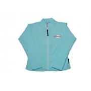 T-shirt manches longues anti uv zippé femme - Bleu clair