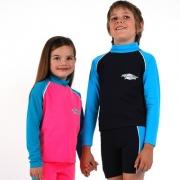 T-shirt manches longues anti uv enfant - Rose/Bleu
