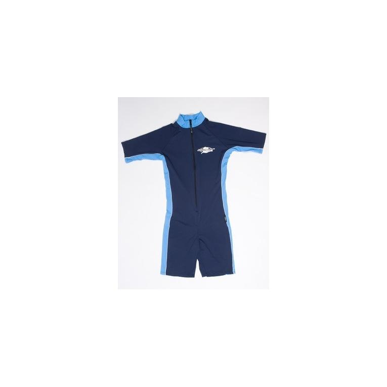 stingray maillot de bain une pi ce manches courtes anti uv adulte mixte bleu marine azure. Black Bedroom Furniture Sets. Home Design Ideas