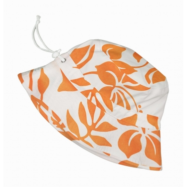 Bob anti uv enfant - Orange Hibiscus