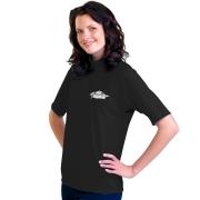 T-shirt de surf manches courtes anti uv mixte - Noir