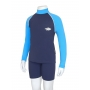 T-Shirt manches longues anti uv enfant - Bleu marine/Azure