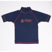T-shirt de surf manches courtes anti uv enfant - Bleu marine