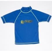 T-shirt de surf manches courtes anti uv enfant - Bleu ocean
