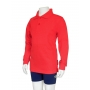 Polo manches longues anti uv junior - Rouge